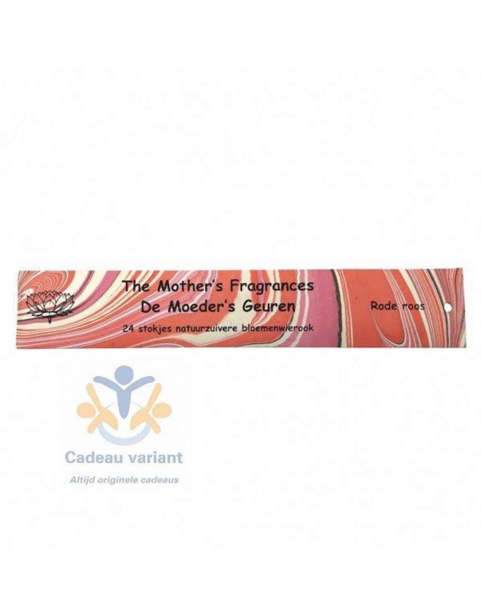 Moeders geuren wierook Rode roos wierook 24 stuks