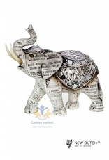 New Dutch Olifant beeld krantenpapier hoogte 25,5 cm