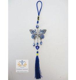 Boze oog hanger met vlinder