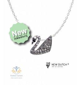New Dutch Zwaan ketting glitter 50 cm