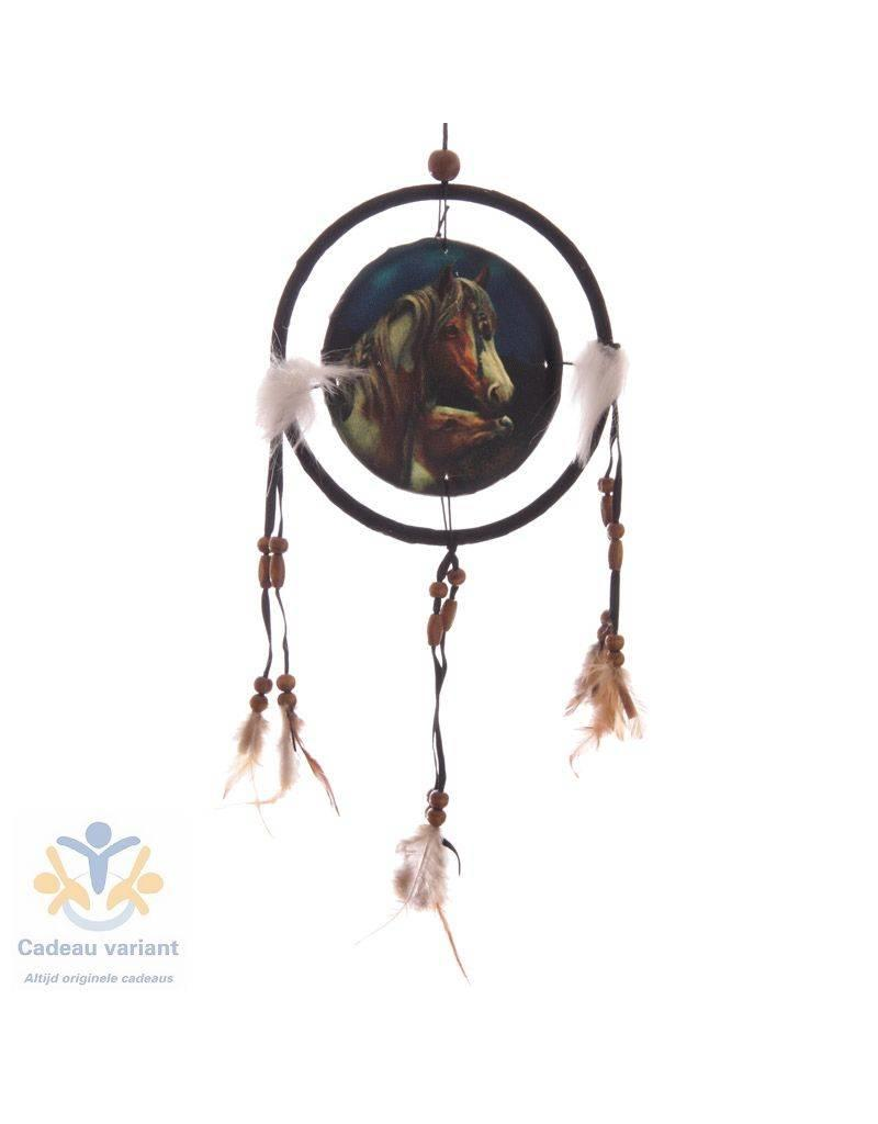 Lisa Parker Dromenvanger paard met veulen 16 cm