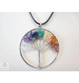 Tree of life ketting met edelstenen