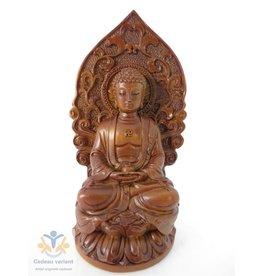Boeddha Thais meditatie zittend op lotus
