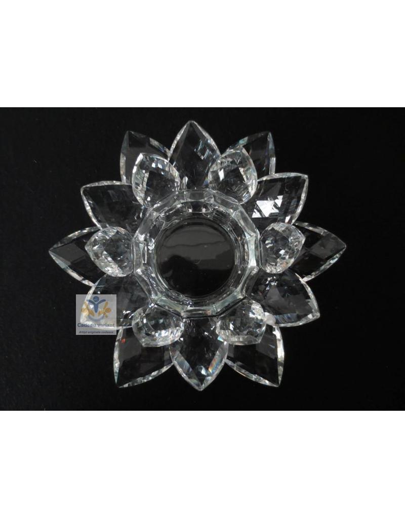 Kristal lotus theelichthouder