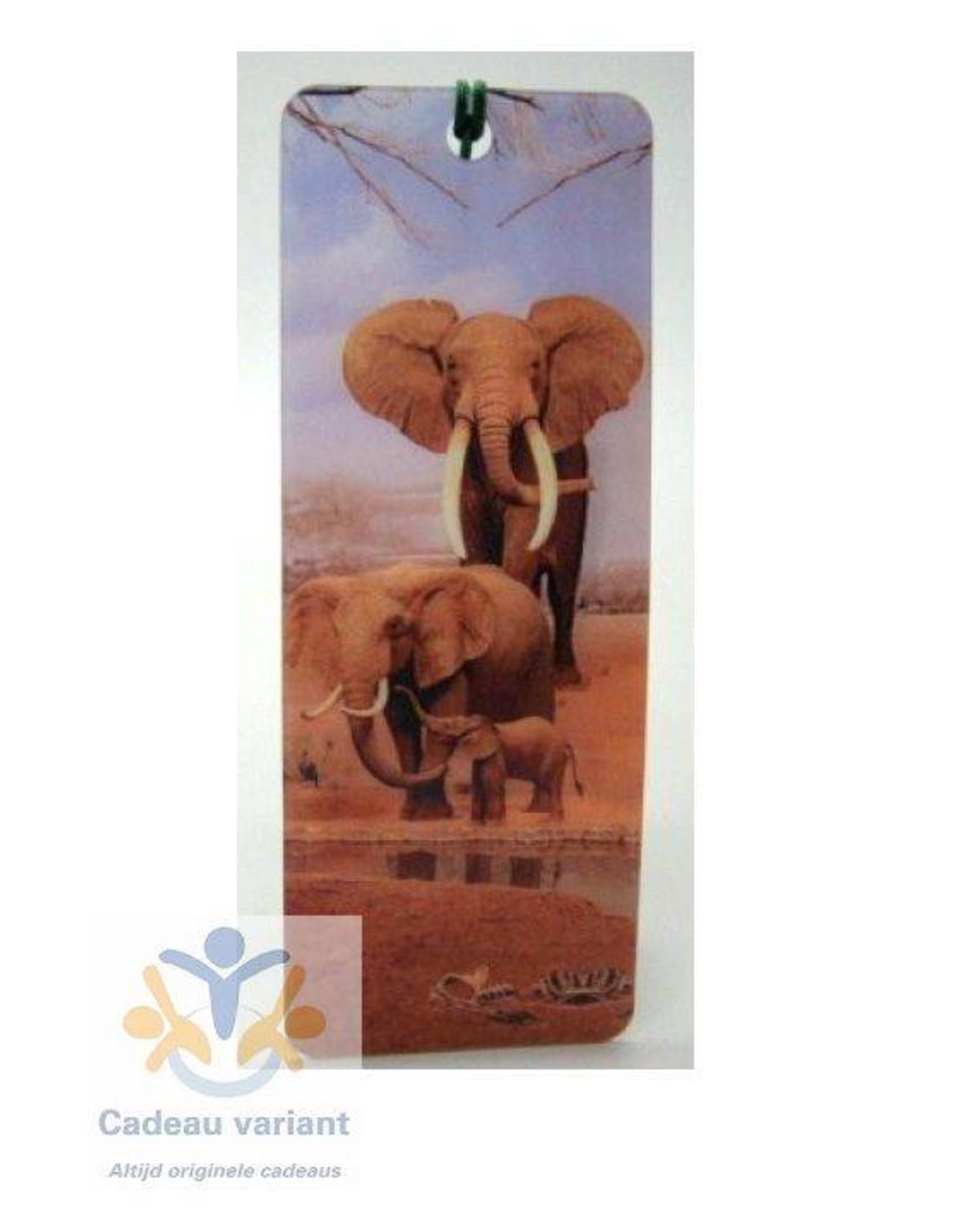 Boekenlegger olifant 3D