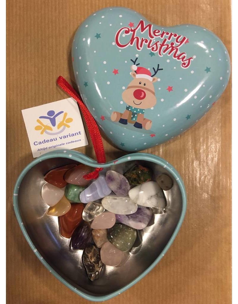 Kerst hart met edelstenen