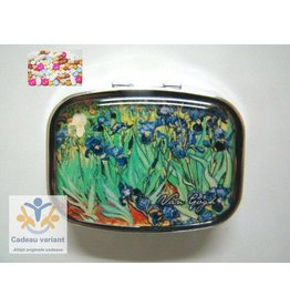 Irissen van Gogh pillendoosje 2 vakken