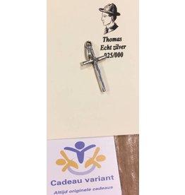 Kruis hanger zilver 3 cm
