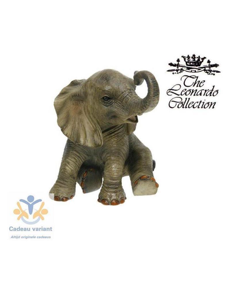 Leonardo collectie Olifant zittend beeld  13 cm