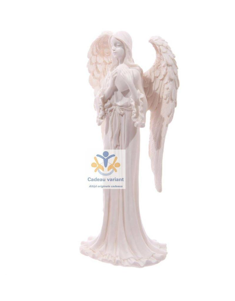 Engel beeld hart wit