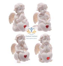 Engel klein met hart en rood mini hart