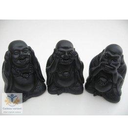 Boeddha set horen zien zwijgen 6 cm