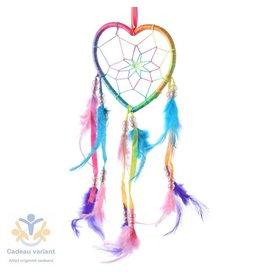 Dromenvanger hart regenboog kleuren