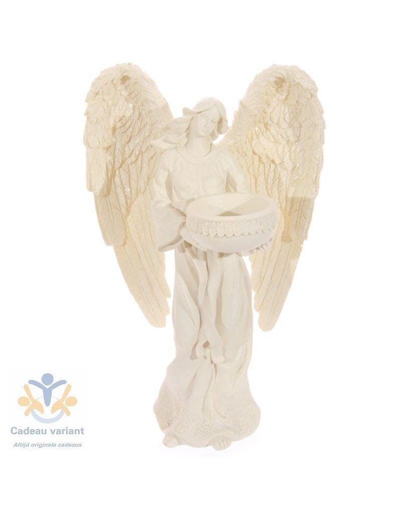 Engel waxinelicht houder staand