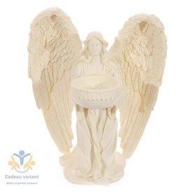 Engel  knielend waxinelicht houder