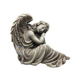 Engel groot beeld zittend