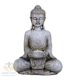 Boeddha meditatie waxinelichthouder