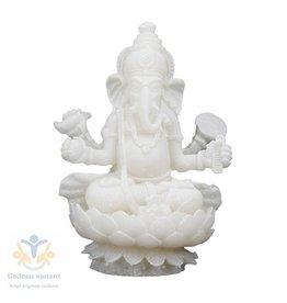Ganesha wit zittend op lotusbloem