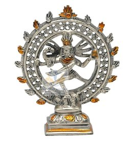 Shiva Nataraja messing dubbele ring tweekleurig