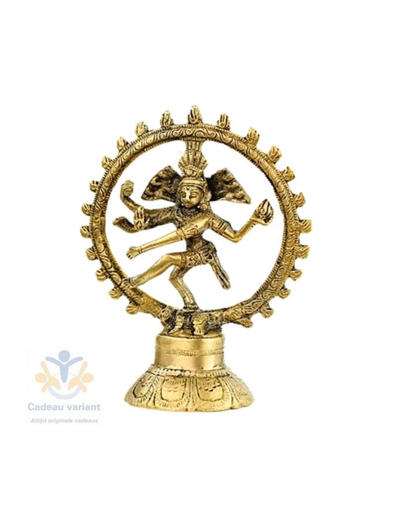 Shiva Nataraja messing  een kleur