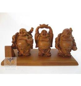 Boeddha set  3 op een plank