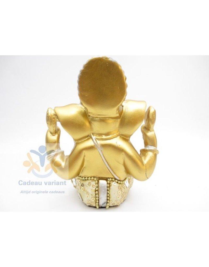 Ganesha goud beeld 13 cm