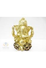 Ganesha goud zwart beeld 13 cm