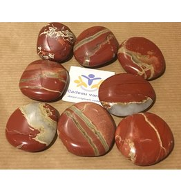 Jaspis rood platte steen