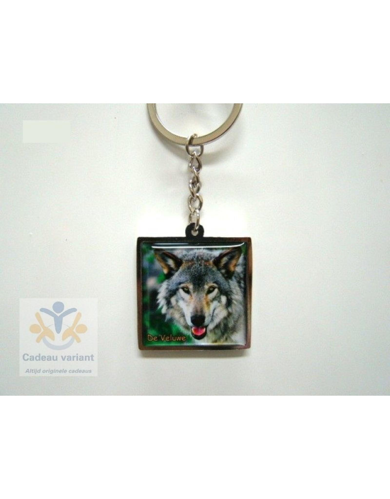Wolf Veluwe sleutelhanger