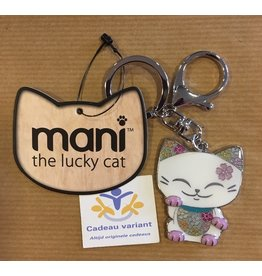 Mani the Lucky Cat sleutel-tashanger