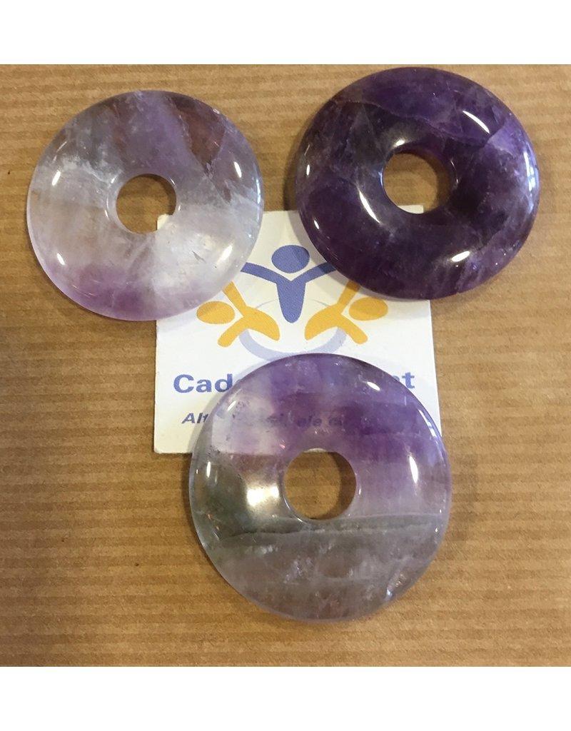 Fluoriet donut edelsteenhanger 3 cm