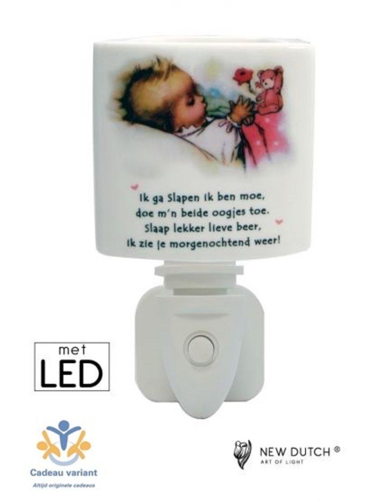 New Dutch Stekkerlamp  baby en beer LED