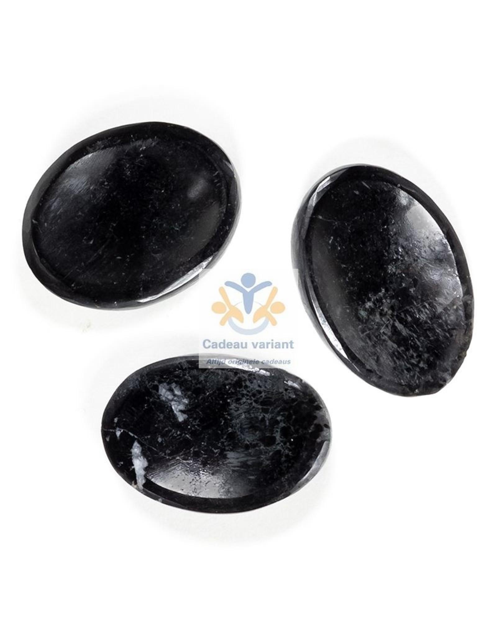Toermalijn duimsteen platte steen (zaksteen)