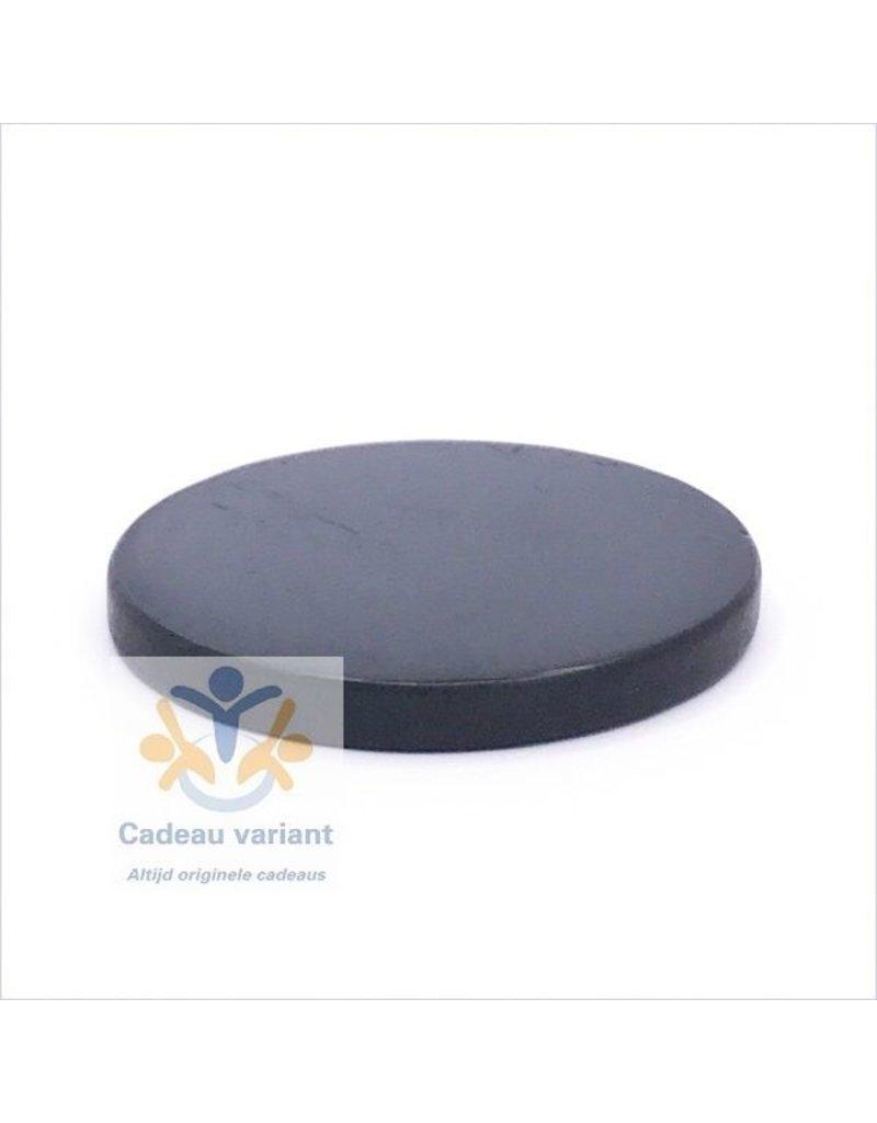 Shungiet shungite edelsteen platte schijf 5 cm