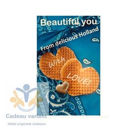 Mooi mens kaarten Beautiful You from delicious Holland with love