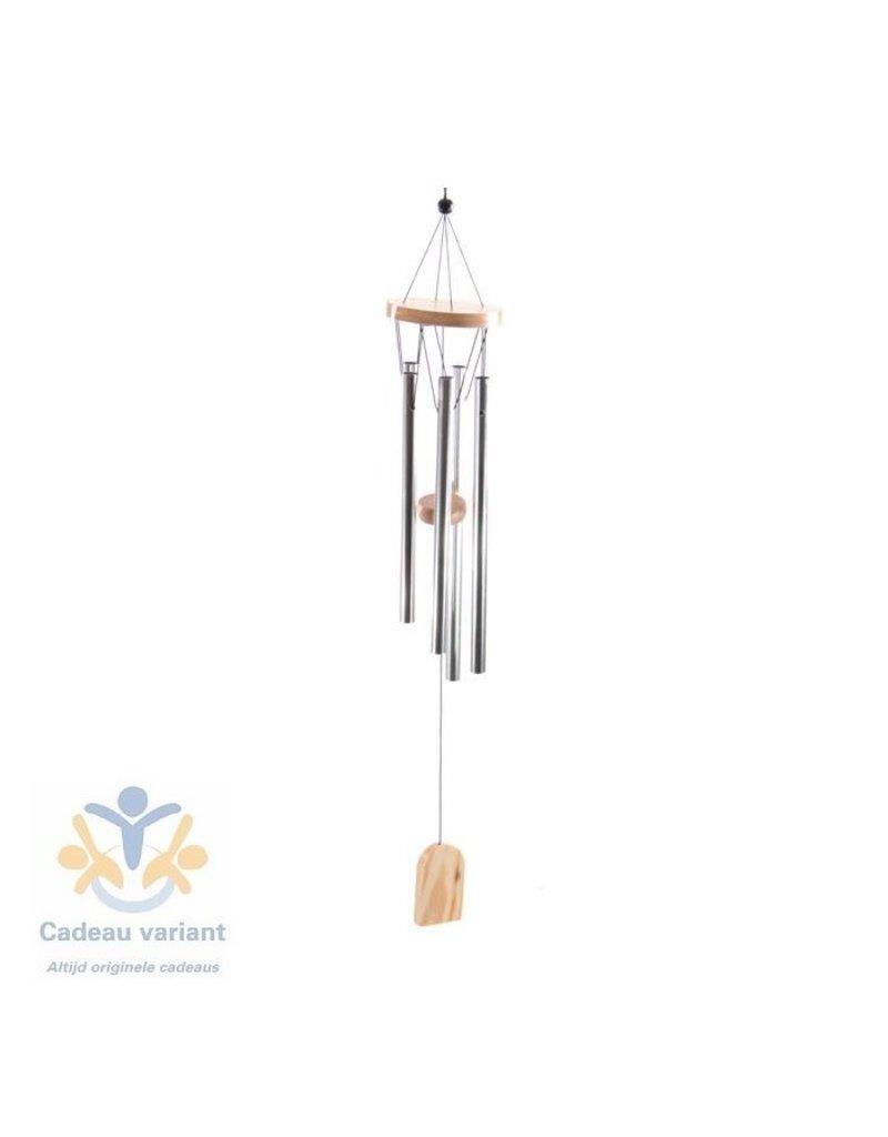 Windgong hout en metaal 58 cm