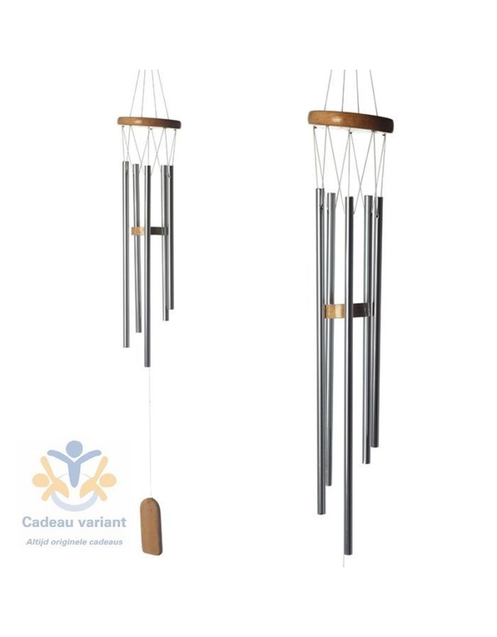 Windgong hout en metaal 77 cm