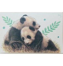 Francien van Westering Panda wenskaart