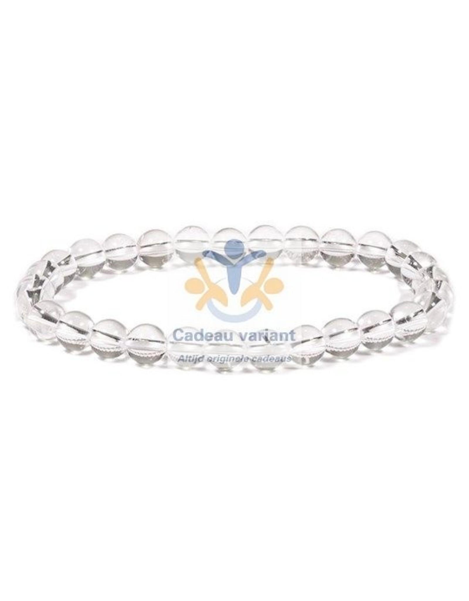 Bergkristal armband kralen 6 mm