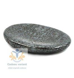 Hematiet platte duimsteen 4 cm