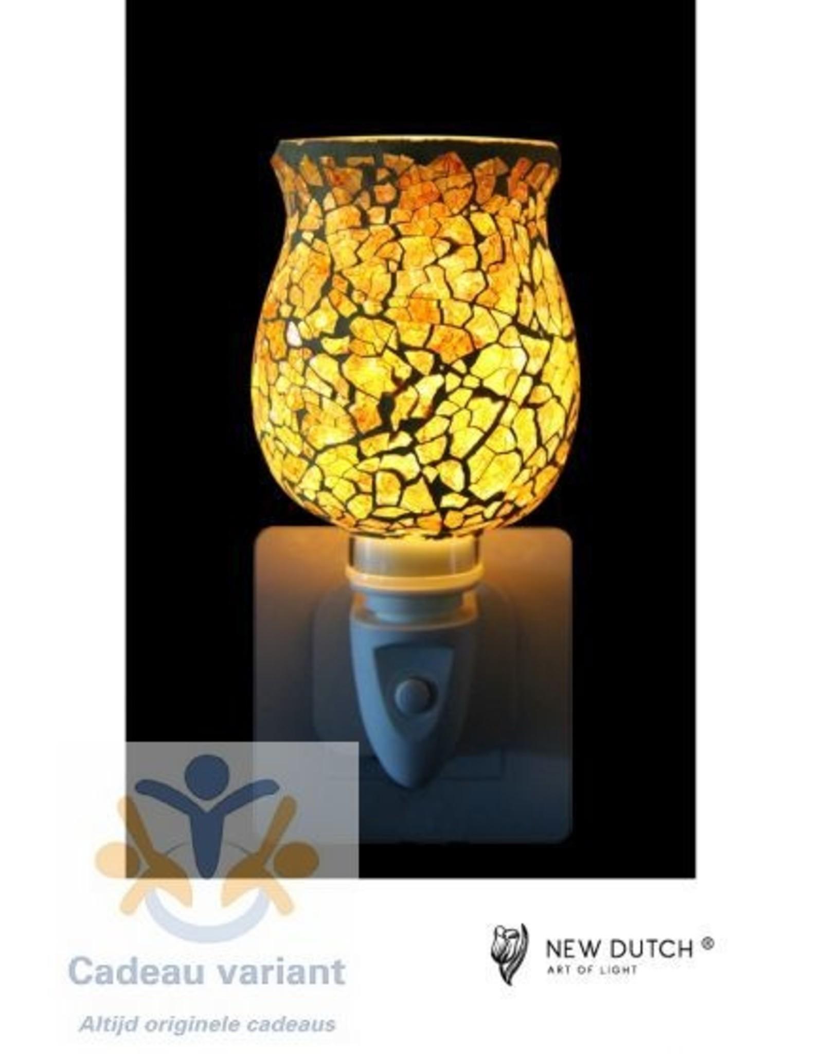 New Dutch Stekkerlamp mozaiëk crème Tulip