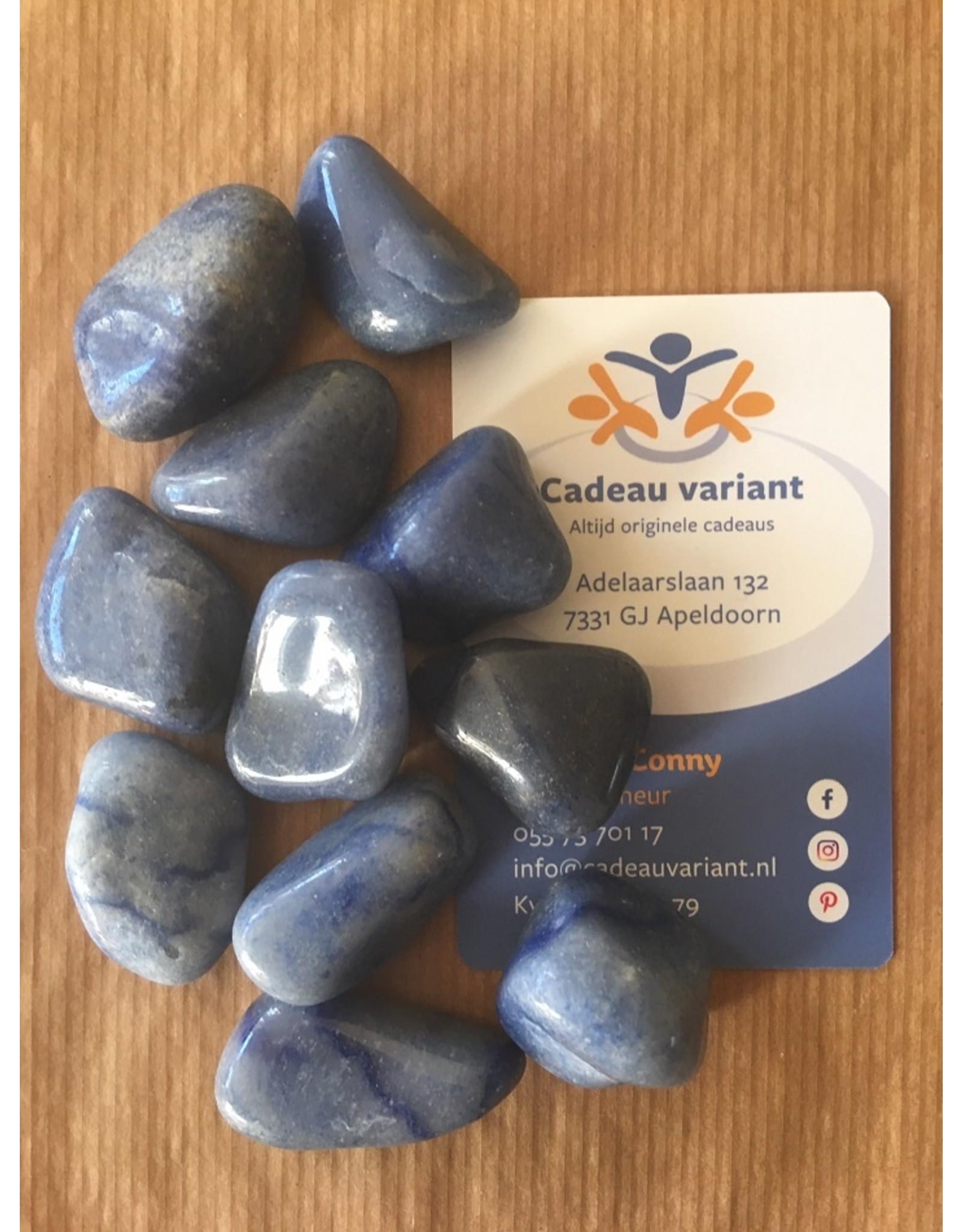Blauwkwarts edelsteen