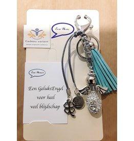 Engel tas/sleutelhanger happy