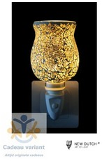 New Dutch Stekkerlamp mozaiek goud