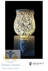 New Dutch Stekkerlamp mozaiek grijs wit zwart