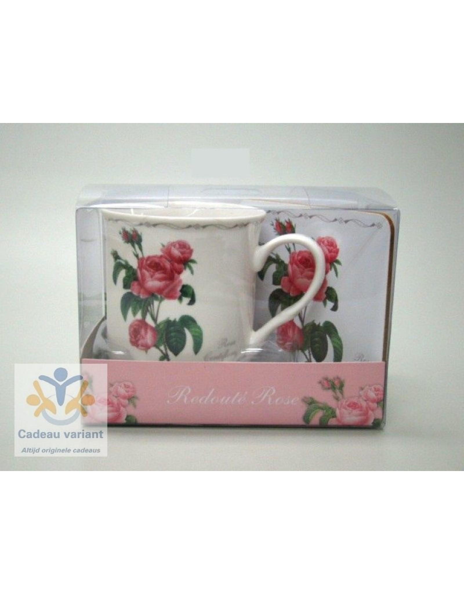 Roos Redouté Rose cadeauset
