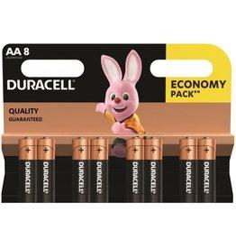 Duracell batterijen Duracell basic duralock penlite AA 8 pak