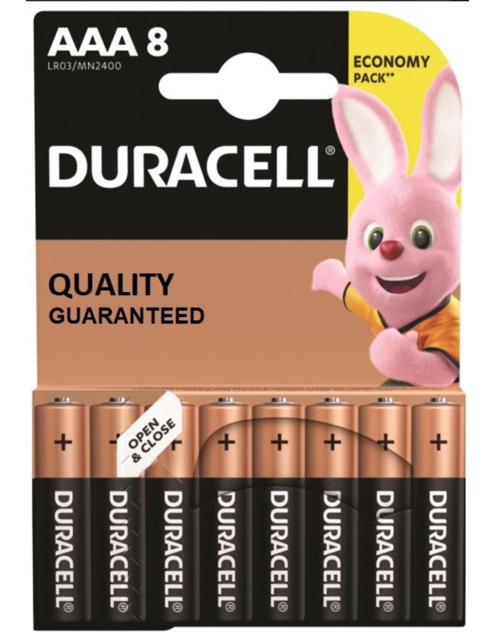 Duracell  Duracell basic duralock potloodcel AAA 8 pak