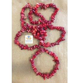 Koraal rood splitarmband