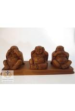 Boeddha beeld horen zien zwijgen